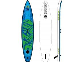 Paddleboard 2W SUP Touring 12`6 MSL fusion, logo Apache, nafukovací, 2021