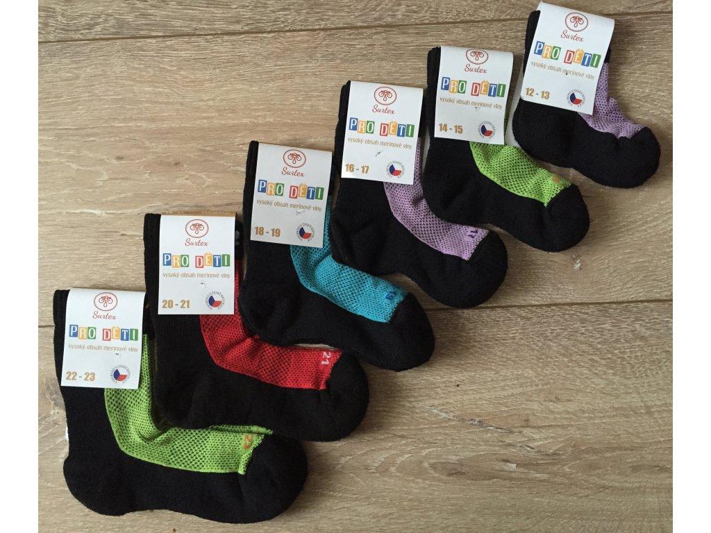 Surtex Dětské Sportovní merino bavlna ponožky - Brouczech.cz 543812ee83