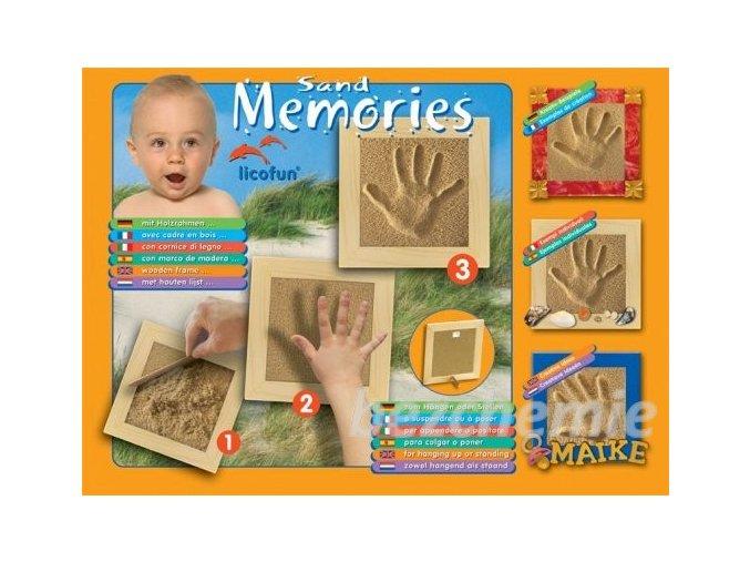 Otisk ručičky nebo nožičky (dřevěný rám)