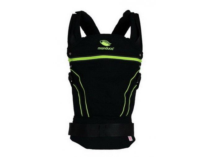 Manduca Black Line Screamin green  + 1 pár návleků na nožičky či ručičky
