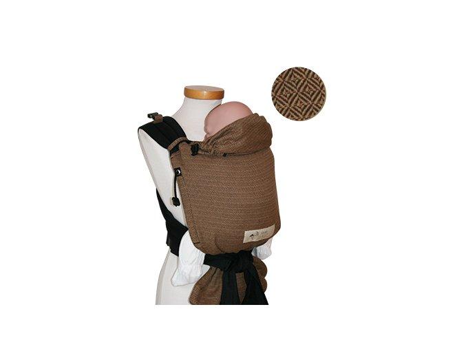 Storchenwiege Nosítko LEO CAFÉ  + 1 pár návleků na nožičky či ručičky