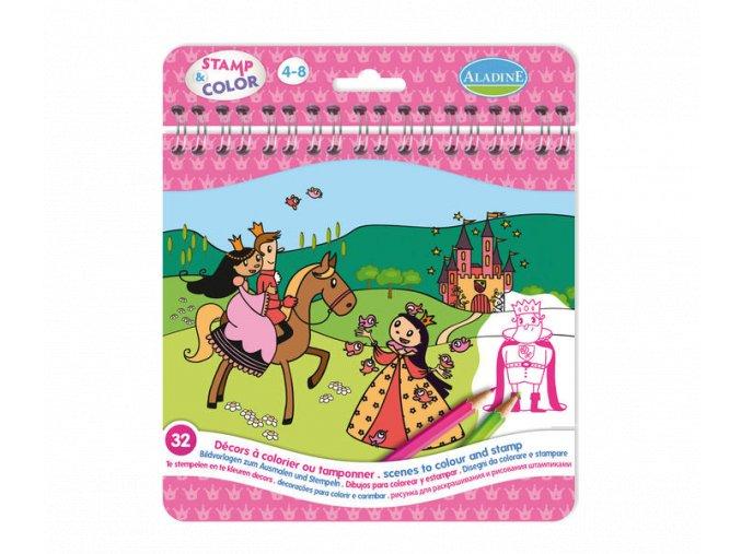 Aladine Razítkuj a vybarvi, PRO HOLKY, 4-8 let