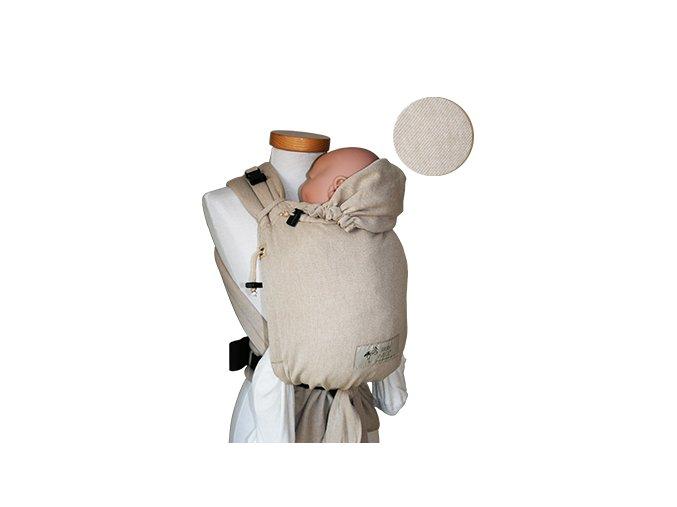 Storchenwiege Nosítko PŘÍRODNÍ  + 1 pár návleků na nožičky či ručičky