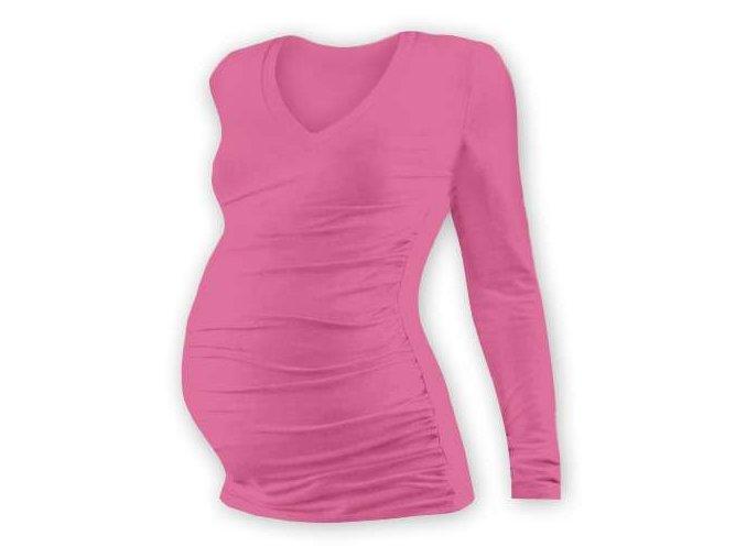 Jožánek VANDA Těhotenské tričko s výstřihem, dlouhý rukáv