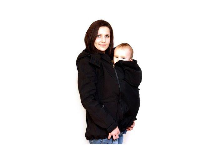 Adelay Softshellová bunda s odepínacími rukávy pro nošení/těhotenství