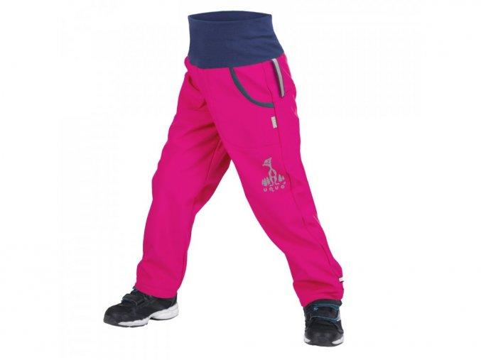 Unuo - DĚTSKÉ Softshellové kalhoty s fleecem - Fuchsiové (Obrázek Evžen)