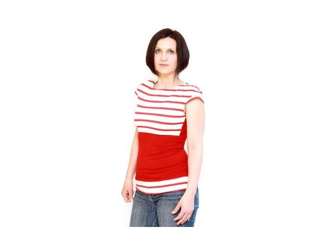 Adelay Kojící bambusové tričko s krátkými (mini) rukávy se vzorem