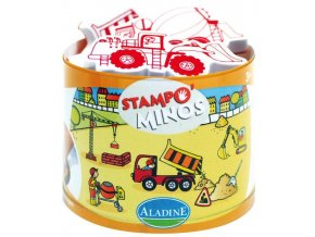 Aladine Stampominos razítka - Na stavbě