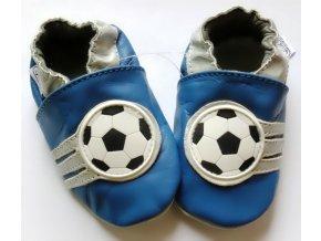 CAPIKI kožené capáčky - Fotbal modré