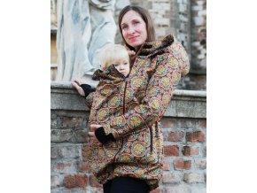 Adelay Softshellová prodloužená bunda pro nošení / těhotenství