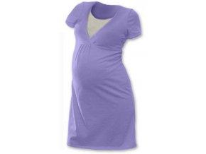 Jožánek Noční košile pro těhotné a kojící, krátký rukáv