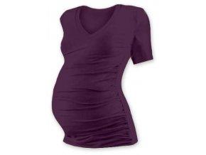 Jožánek VANDA Těhotenské tričko s výstřihem, krátký rukáv