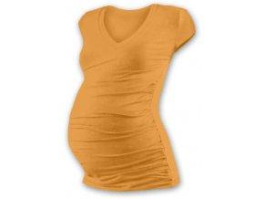 Jožánek VANDA Těhotenské tričko s výstřihem, mini rukáv