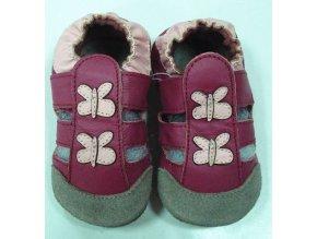 TAPTAPI kožené capáčky - Sandálky motýlci
