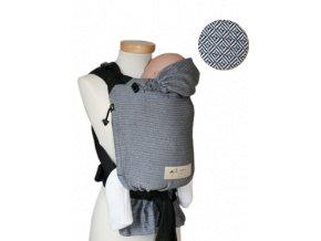 Storchenwiege Nosítko LEO Černobílé  + 1 pár návleků na nožičky či ručičky