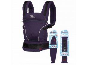 Manduca Pure Cotton Purple Bundle  + 1 pár návleků na nožičky či ručičky