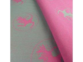 satek didymos kanga funky pink