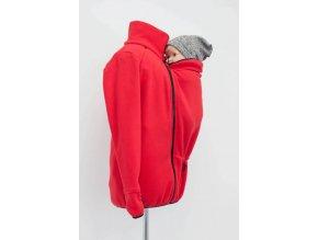 Angel wings Mikina fleece s těhotenskou i nosící vsadkou (Barva šedá, Varianta Velikost XL)