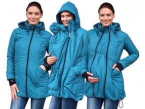 zora zimni vyteplena bunda pro tehotne a nosici zeny pro predni noseni petrolejova