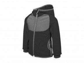 Unuo - Softshellová bunda s fleecem - Černá