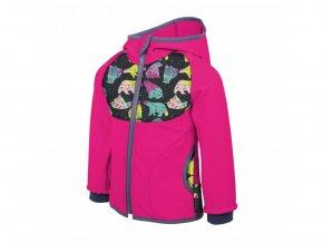 Unuo - Softshellová bunda s fleecem - Fuchsiová (Souhvězdí medvěda)