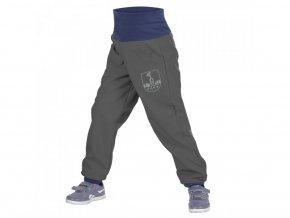 Unuo - BATOLECÍ Softshellové kalhoty s fleecem - Antracitové (Obrázek Evžen)