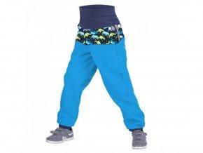 Unuo - BATOLECÍ Softshellové kalhoty s fleecem - Autíčka