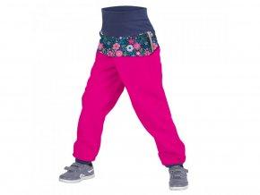 Unuo - BATOLECÍ Softshellové kalhoty s fleecem - Květinky