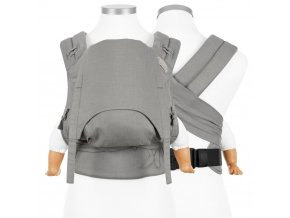 flowclick halfbuckle baby carrier chevron light gray baby
