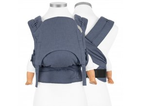 fidellaz flowclick halfbuckle baby carrier chevron denim blue baby