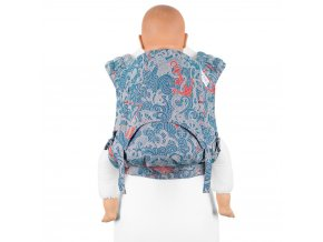 fidella flyclick plus baby carrier classic sea anchor maritime blue