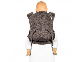 flyclick plus halfbuckle baby carrier mosaic mocha brown toddler