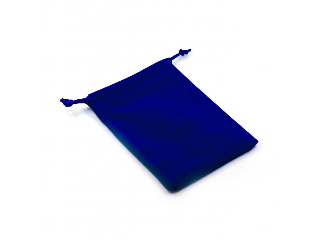 A0004 Semišový pytlík na šperky BLUE