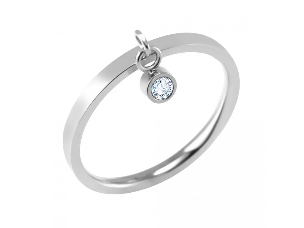 S3962 Prsten s krystalkovým přívěskem