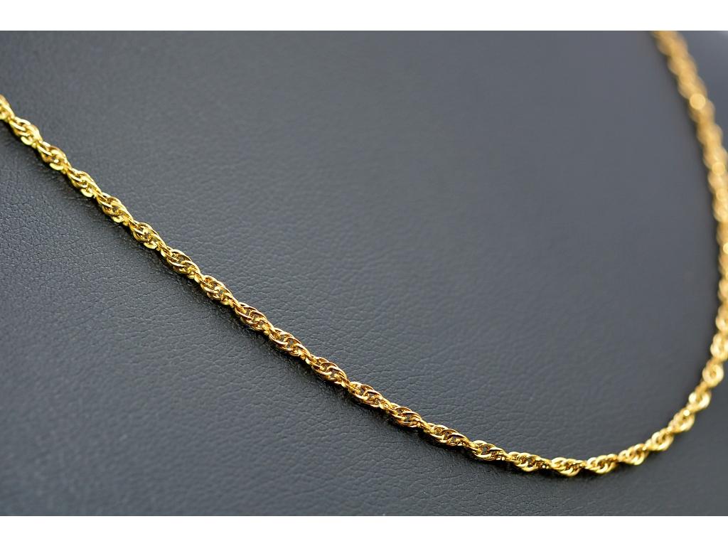 S1199 Jemný řetízek z chirurgické oceli GOLD 45/0,2 cm - shodný s S1198