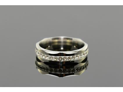 S1659 Prstýnek z chirurgické oceli s krystalky