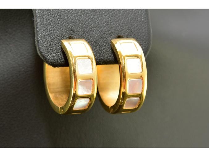 S1093 Luxusní náušnice z chirurgické oceli GOLD