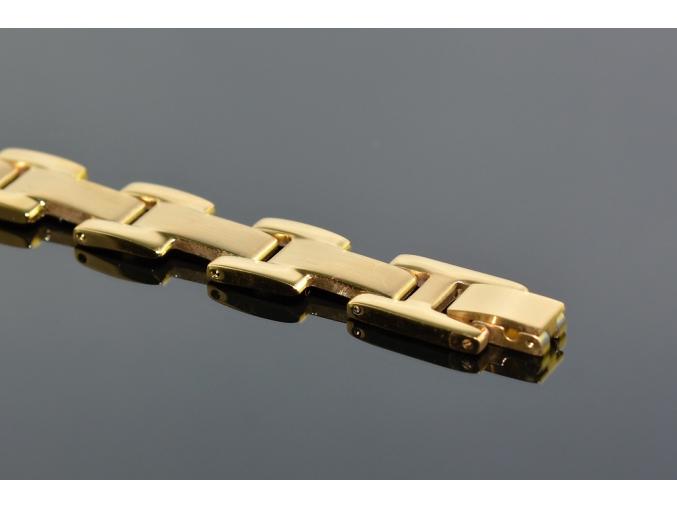 S1334 Náramek z chirurgické oceli GOLD 21,5/1,2 cm