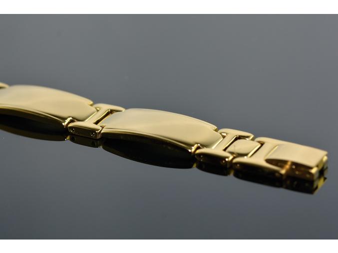 S1340 Náramek z chirurgické oceli GOLD 21,5/1,2cm