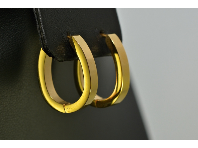 S1395 Náušnice z chirugické oceli GOLD