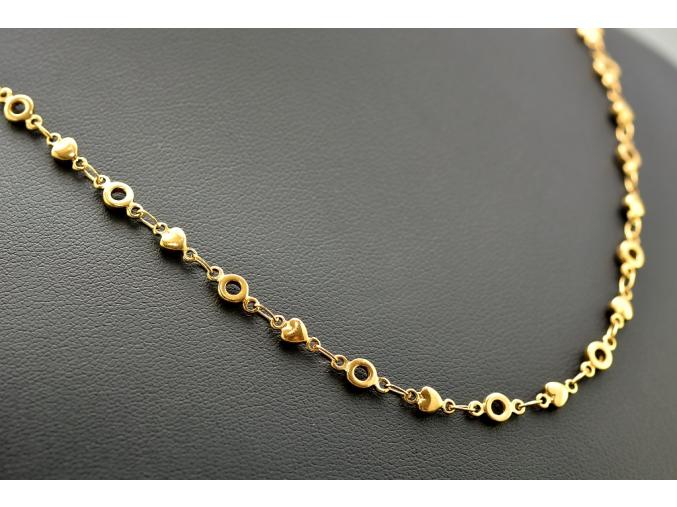 S1479 JEMNÝ OZDOBNÝ ŘETÍZEK GOLD z chirurgické oceli