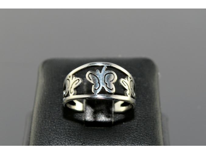 S1666 Motýlkový prstýnek z chirurgické oceli