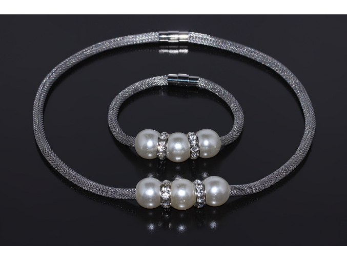 S0345 Souprava náhrdelník + náramek z chirurgické oceli