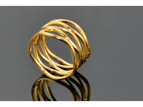 S0866 Prstýnek z chirurgické oceli GOLD