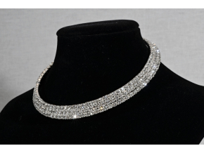 B0024 Štrasový náhrdelník obojek