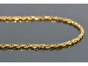 S0997 Jemný řetízek z chirurgické oceli GOLD 45/0,2cm
