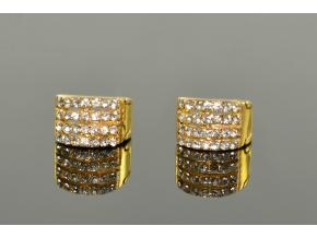 S1034 Náušnice GOLD kroužky z chirurgické oceli