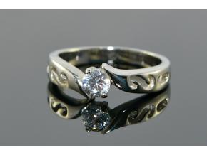S1059 TOP prstýnek z chirurgické oceli s krystalkem