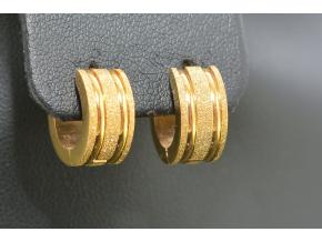 S1164 KROUŽKY GOLD - pískovaná ocel 1,4cm