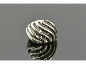 S1358 Masivní výrazný prsten z chirurgické oceli